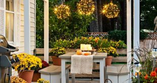 Delight in your deck throughout the fall. Create a cozy gathering spot in one co...