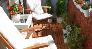 How to spruce up a rental apartment deck; add portable wooden panels for deck fl...