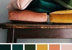 Senf-Pfirsich-Smaragd-Farbpalette #colorpalette #emerald und Senf-Farbpalette .....