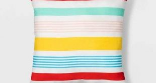 "16"" Variegated Stripe Throw Pillow Red/Yellow/Blue - Sun Squad™"