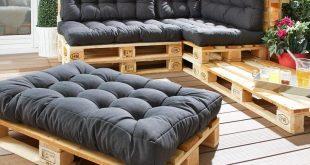 Sitzkissen für Europaletten (80x120, anthrazit)