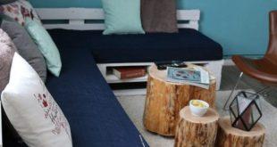 Sofa aus Europaletten mit vielen Extras