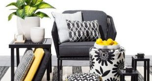 Target Black and white patio accessories with pops of juicy color is a style mad