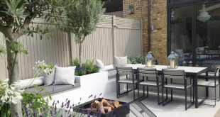 Gartendesign für Sitzbereich mit Feuerstelle #feuerstelle #gartendesign #sitzb...