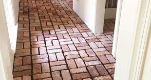 """Oh, hi, beautiful brick pavers!"" Finishing up flooring in this project - maja e..."
