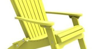 Outdoor Folding Adirondack Chair (Yellow/Black)(Plastic), Outdoor Seating