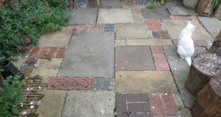Patio with inspiration from Geoff Hamilton
