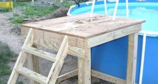 diy cheap pool steps - Google Search